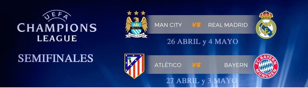 Definida las semifinales de Champions League