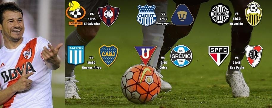 Partidazos por Libertadores: Racing-Boca y Sao Paulo-River