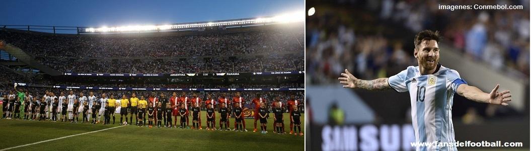 CA2016 – Argentina despegada con 3 goles de Messi golea a Panamá