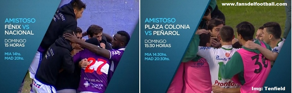 Fenix 3-0 Nacional   Plaza Colonia 1 (4)-1 (3) Peñarol