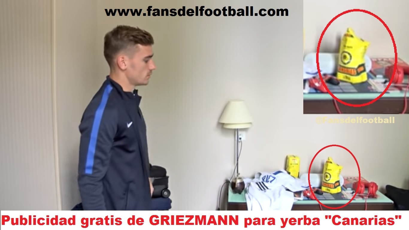 Griezmann enseña a tomar mate a los Franceses