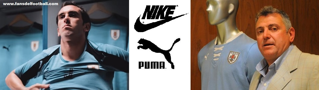 Seleccion Uruguaya ente Nike y Puma