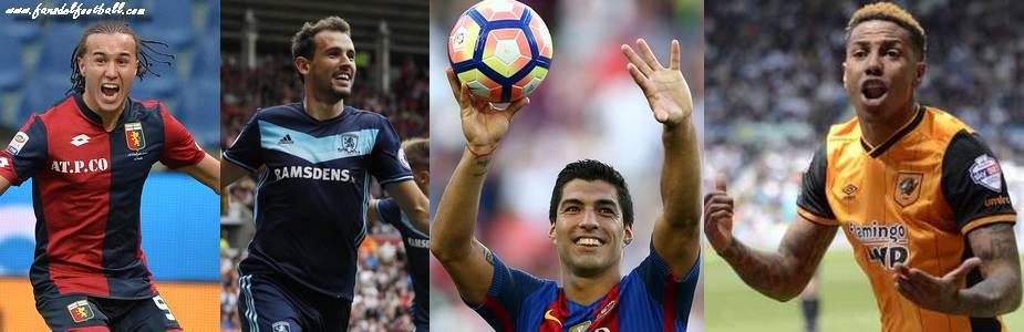 Goles Uruguayos por el Mundo: Suarez, Stuani, Abel Hernandez, Laxalt