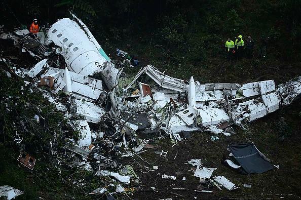 El avión que transportaba a Chapecoense