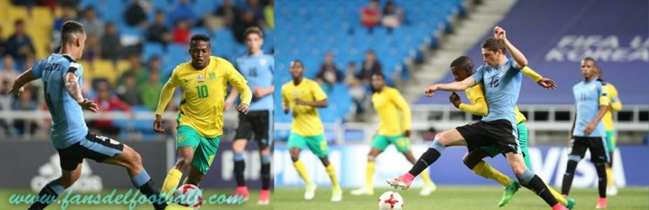 Uruguay empata con Sudáfrica y es primero del grupo