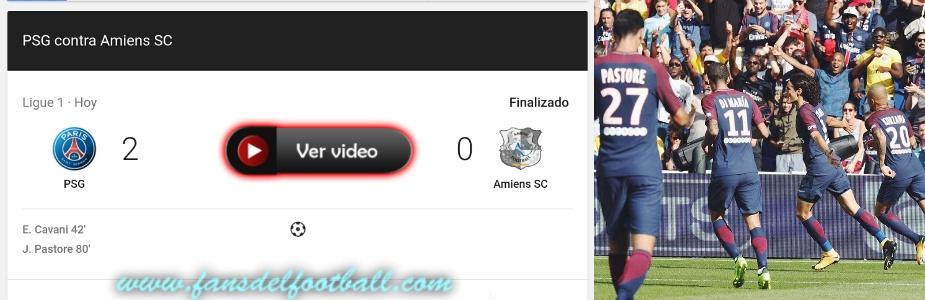 PSG gana con gol de Cavani y Neymar en el palco