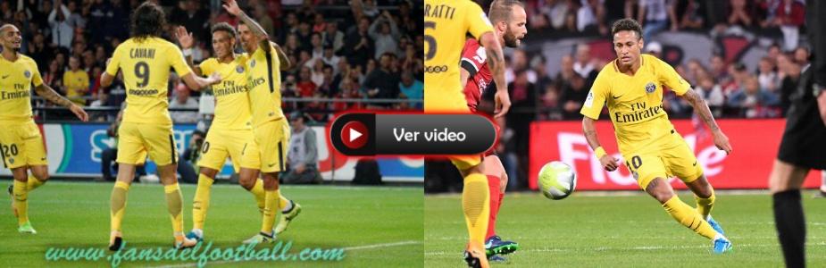 PSG golea con goles de Cavani y Neymar