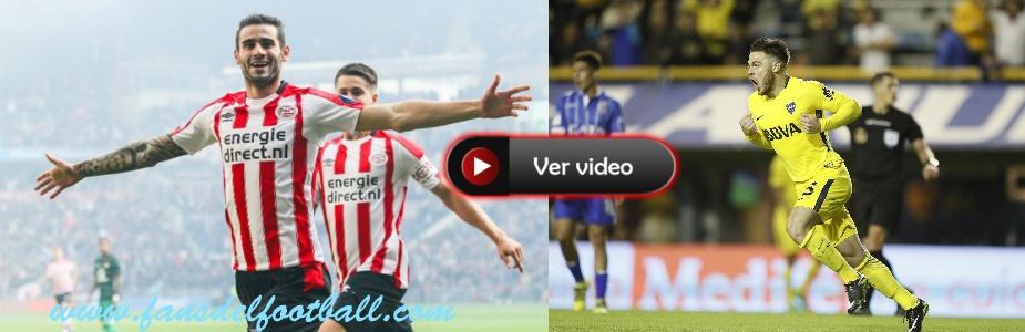 Golazos de Pereiro para PSV y Nandez en Boca