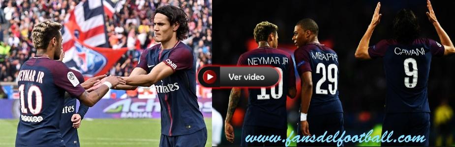 PSG goleo 6-2 al Bordeaux con goles del tridente