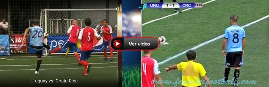 Uruguay gana en su debut 7 – 6 a Costa Rica