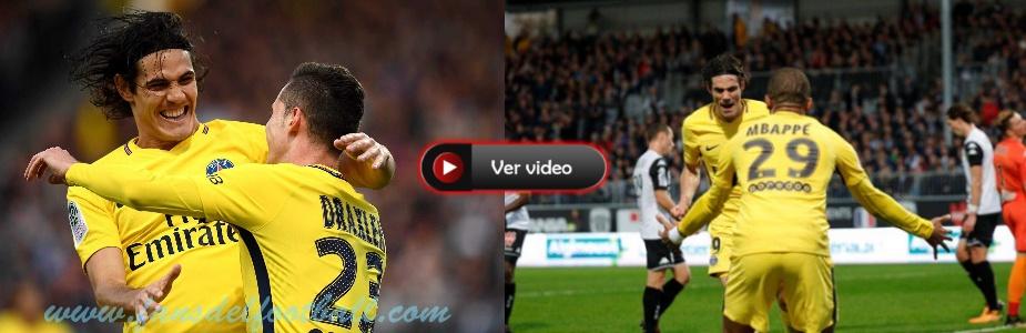 Doblete de Cavani para PSG 5-0 sobre Angers