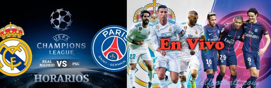 Real Madrid vs PSG en vivo online por 8vos de Champions League