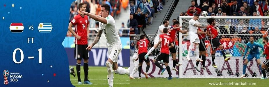 POR UNA CABEZA URUGUAY 1-0 EGIPTO