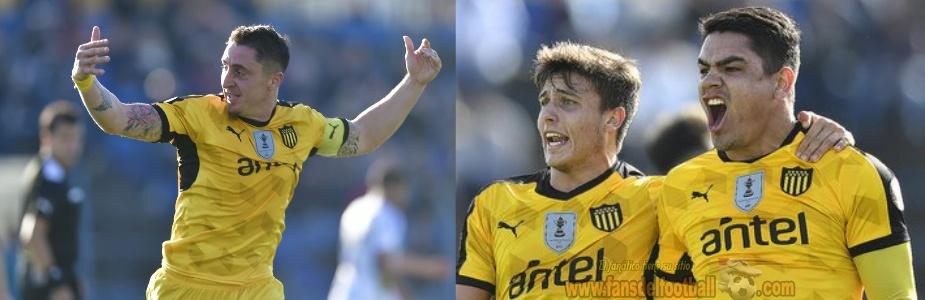 Peñarol gano con hat trick de Toro Fernandez en el cierre de la cuarta fecha