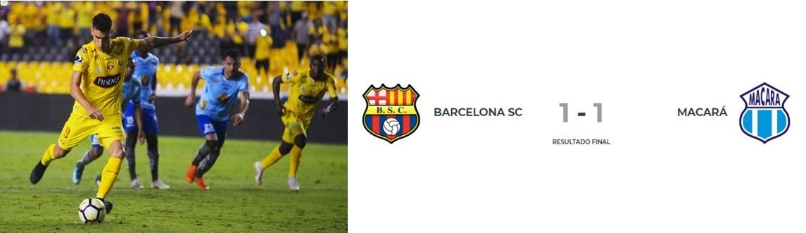 Barcelona de Guillermo Almada rescata un empate y conserva el liderato