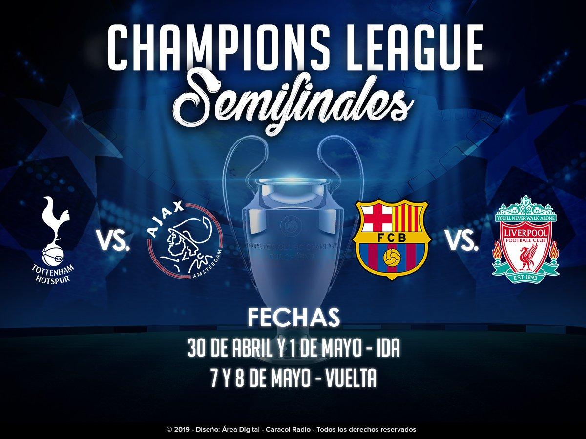 Champions: Ajax, Tottenham, Barcelona y Liverpool a semifinales