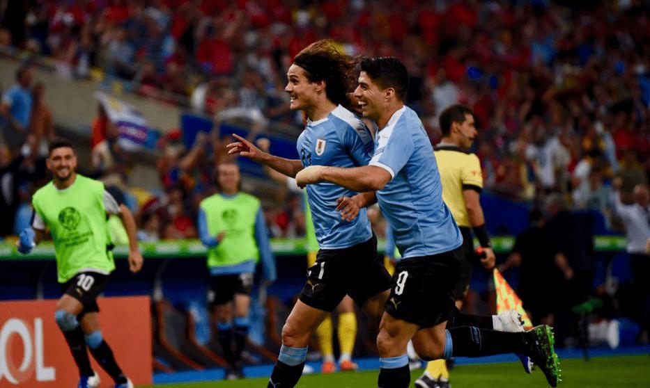 Con gol de Cavani, Uruguay derrotó a Chile y gana el grupo C