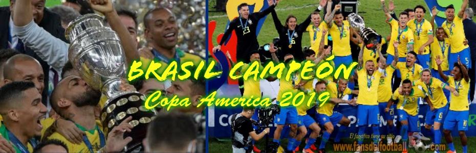 Brasil Campeón de la Copa America 2019