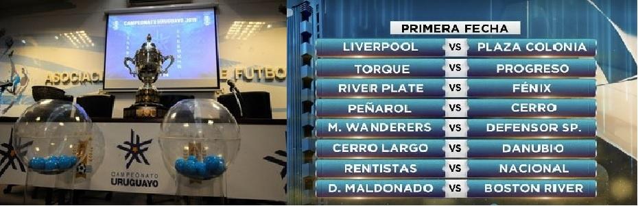 Futbol Uruguayo fixture Apertura 2020