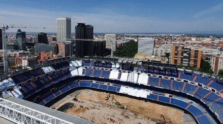 Continúan las obras en el estadio Santiago Bernabéu