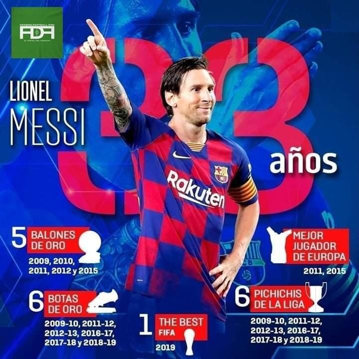 Lionel Messi cumple hoy 33 años