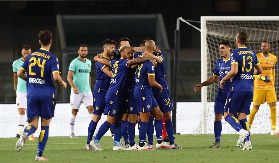 El Inter de Godín y Vecino empató con Hellas Verona e hipoteca la lucha por el scudetto de la Serie A