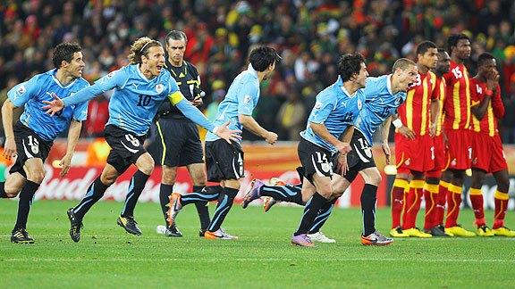 Un día como hoy…hace 10 años, Uruguay vencía a Ghana por penales y avanzaba a semifinales del Mundial Sudáfrica 2010
