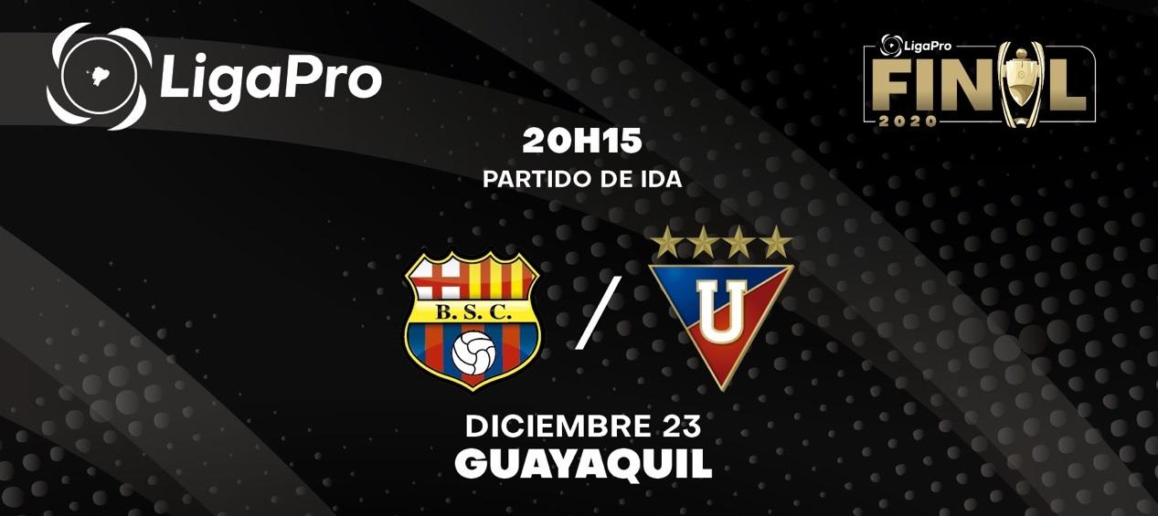 Barcelona y Liga de Quito se enfrentan hoy por la final de ida de la LigaPro