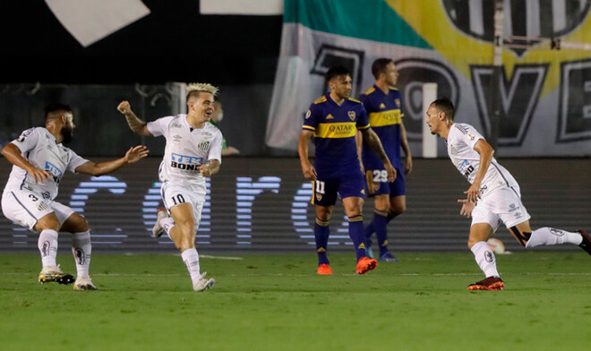 Santos goleó a Boca y es finalista de la Copa Conmebol Libertadores