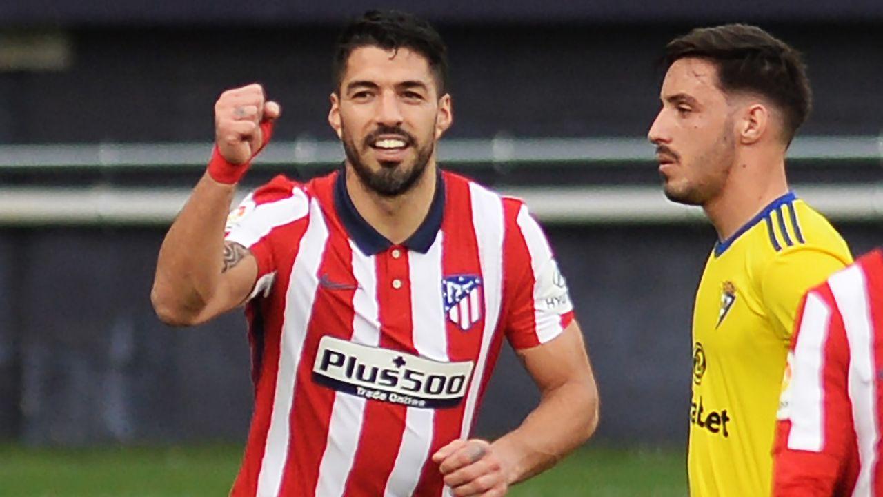 Doblete de Suárez en el triunfo del Atlético de Madrid sobre Cádiz