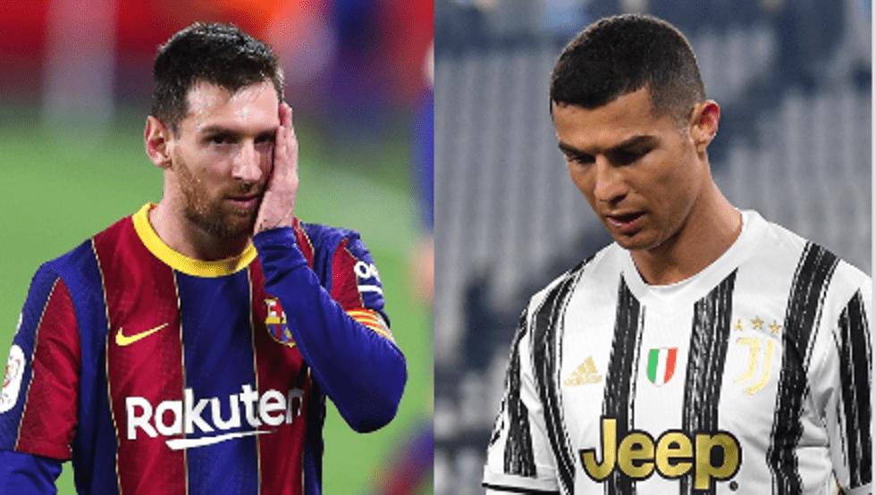 Messi y Cristiano sin Champions