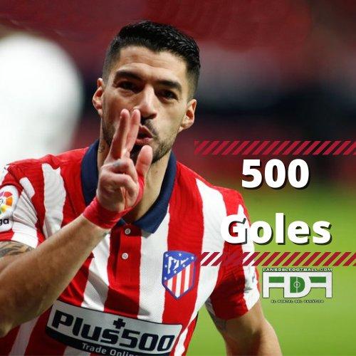 Luis Suarez llega a 500 goles