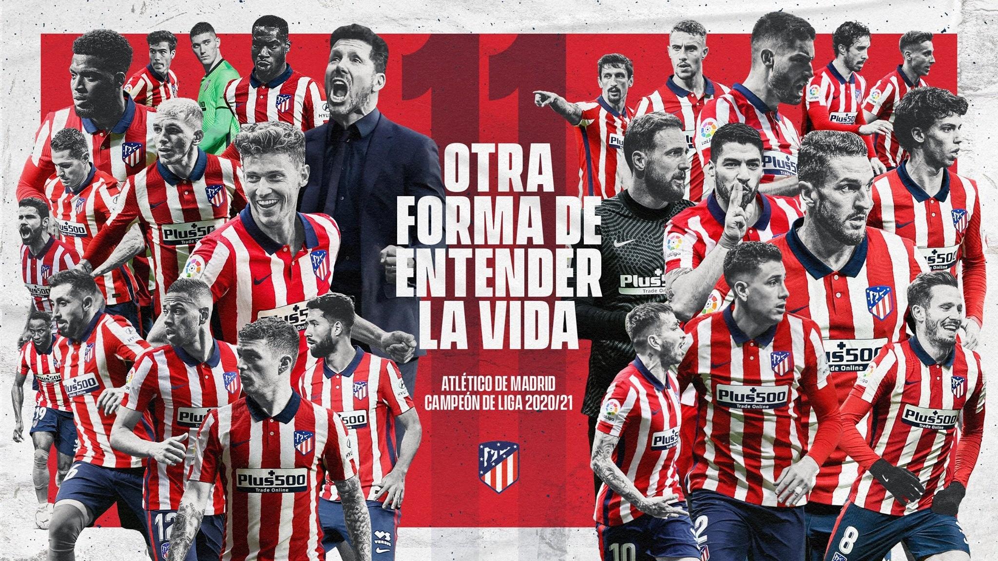 Datos del Atlético campeón de La Liga